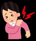 左の肩の痛み。